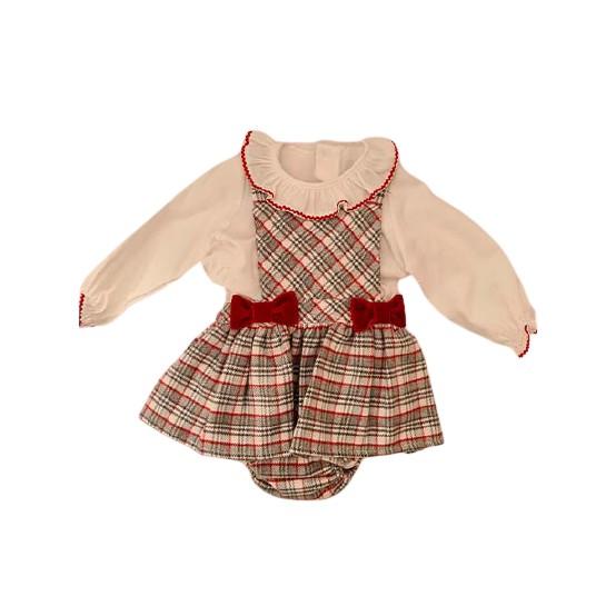 Conjunto Blusa y falda tirantes con cubrepañal